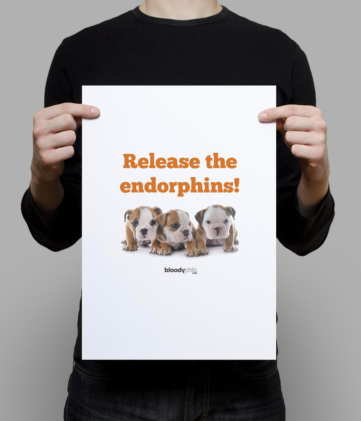 Release the endorphins!_A3 Poster
