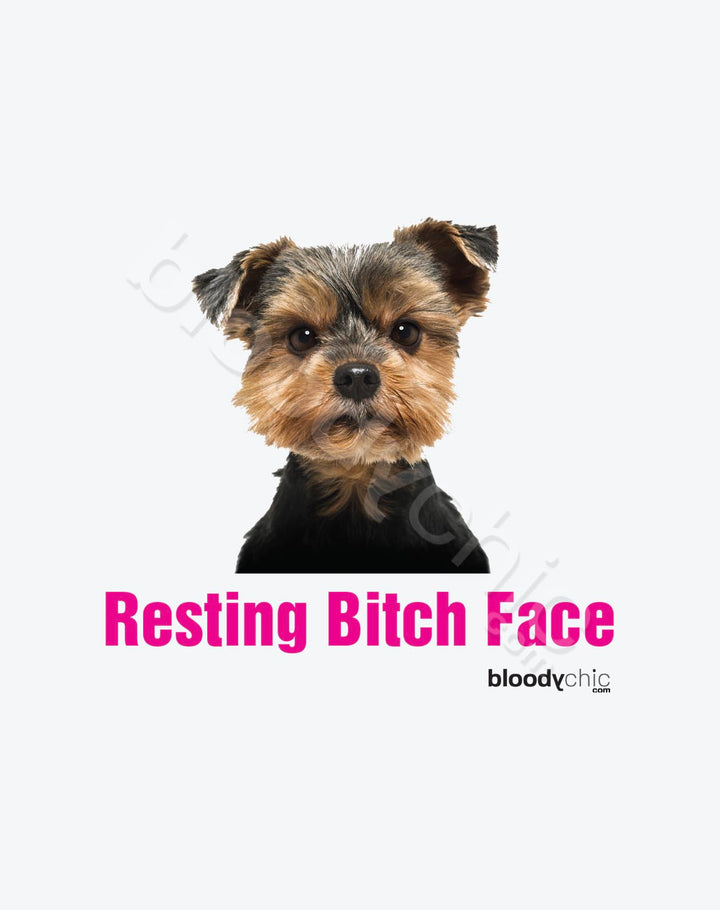 Resting Bitch Face_White