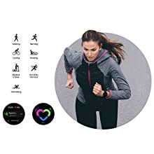 Track your workout on your wrist Galaxy Watch Active2 tracks your movements so you can just slip it on and get working out. With swimming added to automatic tracking you now get seven exercises, while manual tracking works for all activities for dozens you can track. Running coach function gives you actionable advice in real time.