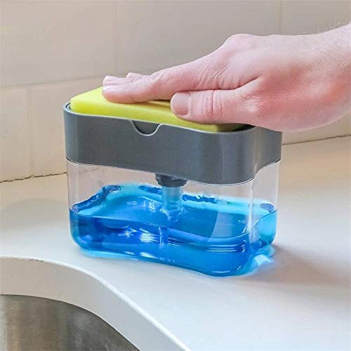 CleanMagic Liquid Soap Dispenser & Sponge holder ( With Free Sponge)