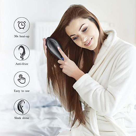 BALOORY ELECTRIC HAIR STRAIGHTENING BRUSH