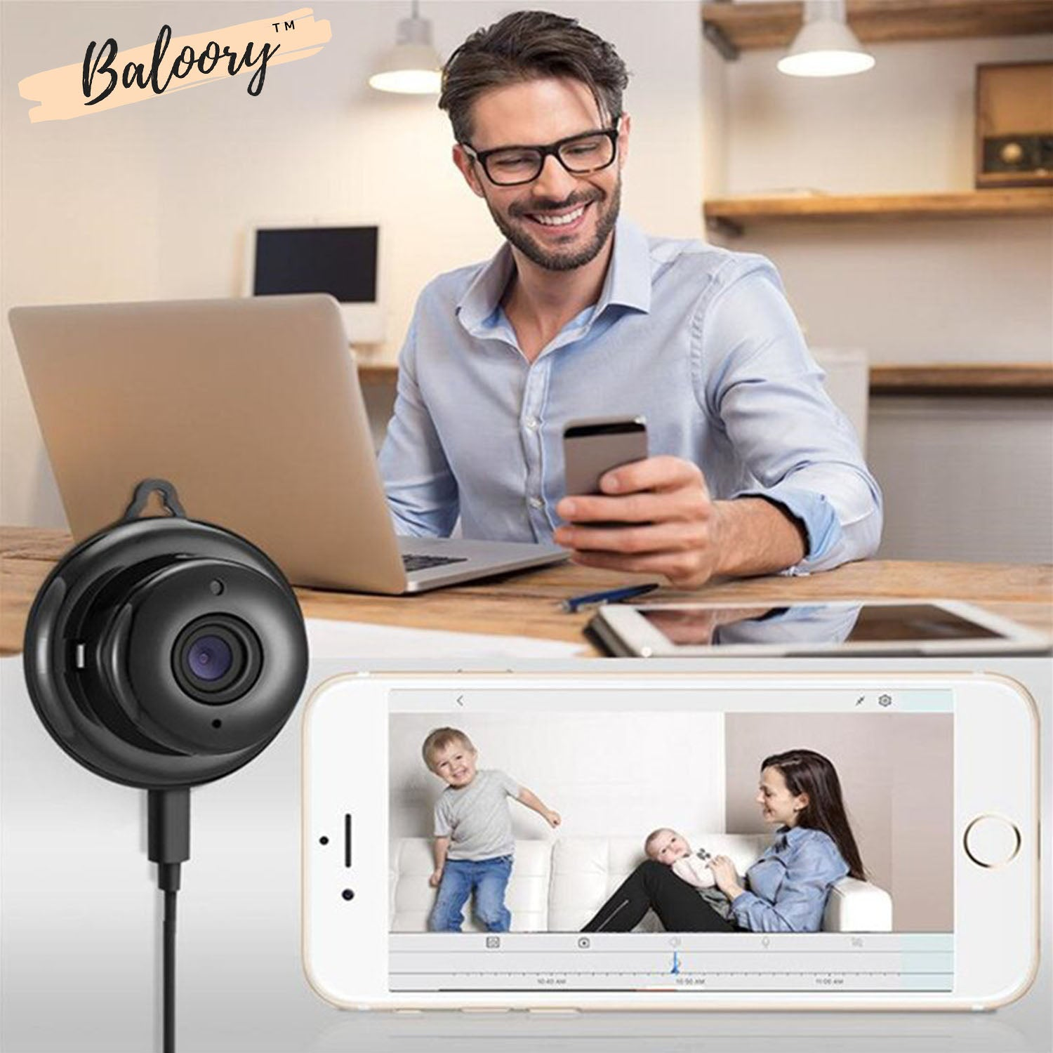Baloory Wifi Hidden Spy Camera