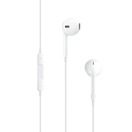 Wired Earphones with Remote and Mic,White