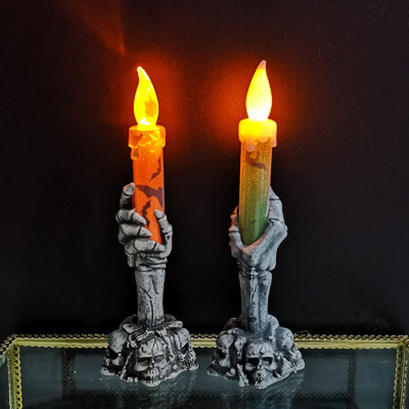 Halloween Ghost Hand Night Light of Ghost Festival Atmosphere Props Plastic Ghost Hand Light Neon Light LED Light Candle Light