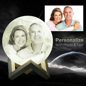 Personalized Photo Moon Lamp With Stand