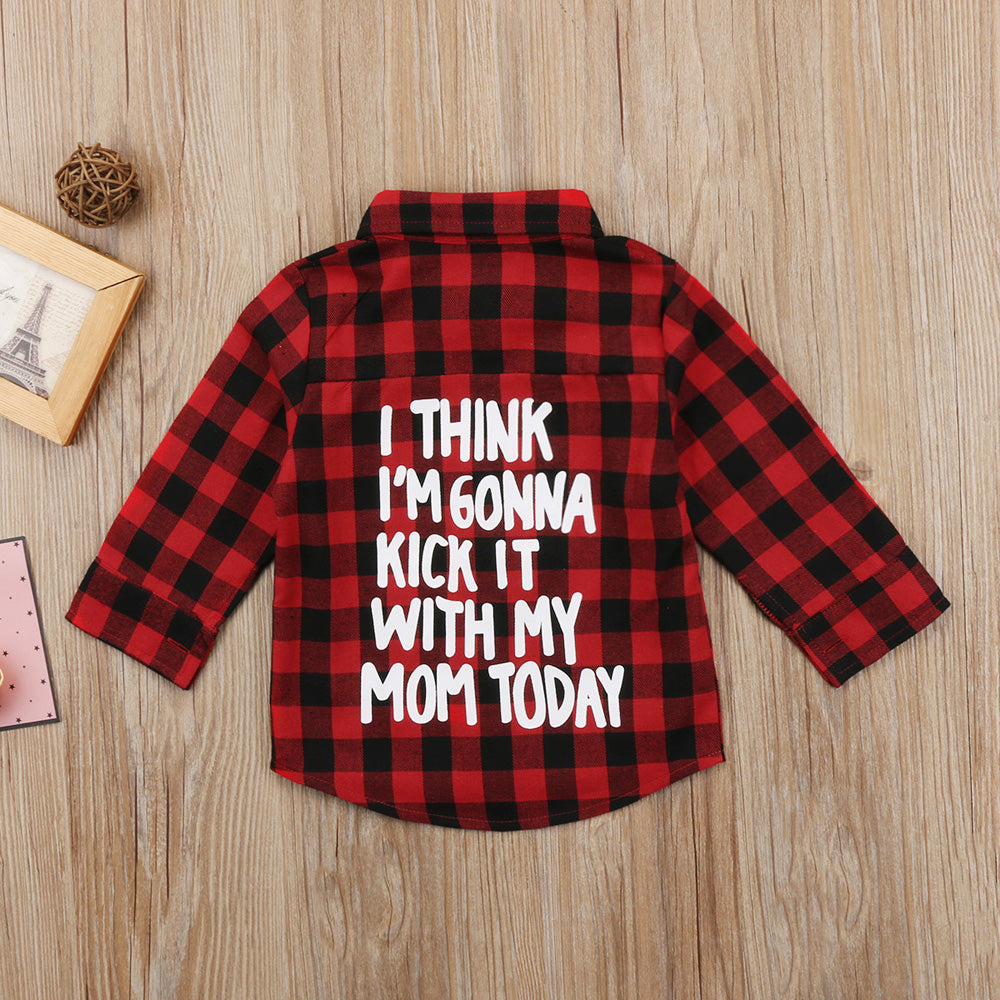 Kick It With Mom Flannel Unisex Shirt