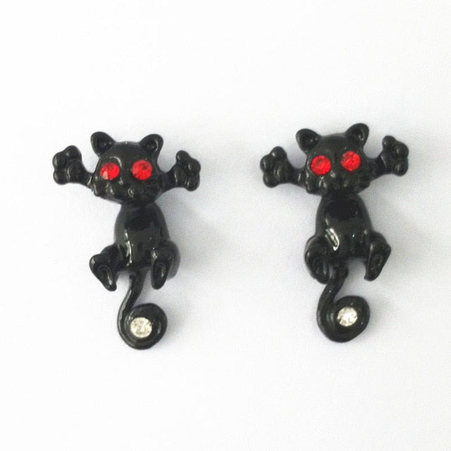 Trap Cat Stud Earrings