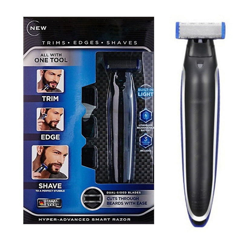 Electric Shave 3 in 1 Hair Trimmer Men Shaver Electric Multifunctional Personal Cleaning Rechargeable Edger Beard Razor