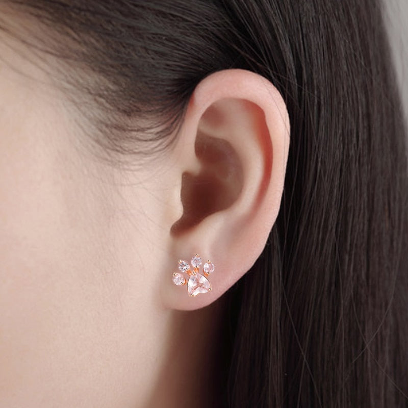 Cat Paw Earrings