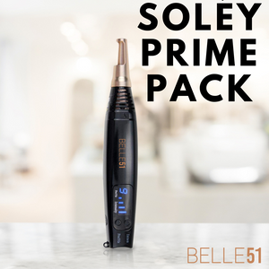 Soley Prime Pack: (Laser, Numbing Cream, Ultrasound Gel, Private Video Tutorial and Additional Silicon Healing Pads)
