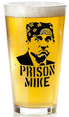 Prison Mike Beer Glass - The Office Merchandise