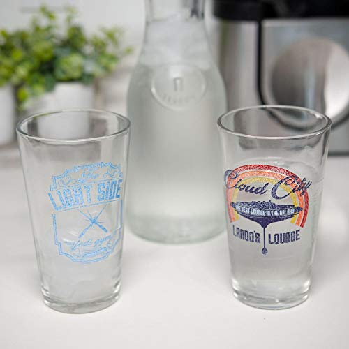 Star Wars Pint Glass Set |Lando's Lounge & The Light Side Jedi Gym
