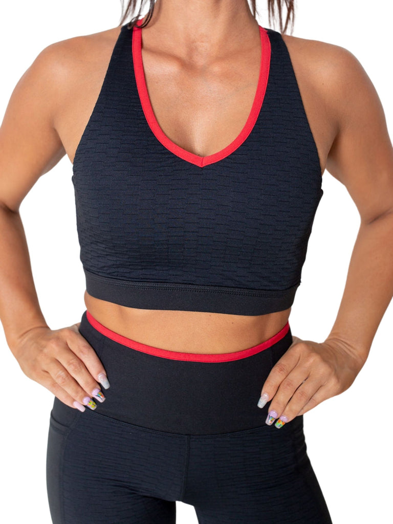French Tip sports bra