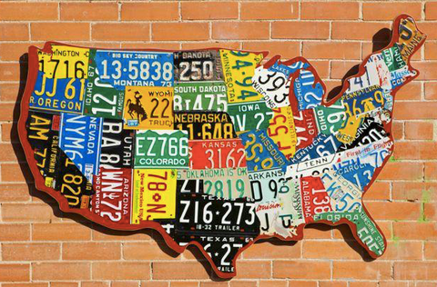 1. USA License Plate Maps