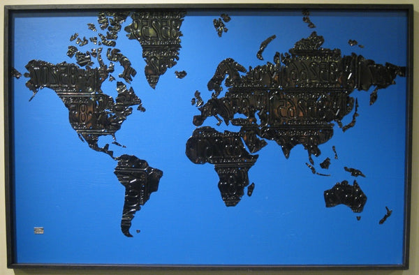 World Map in License Plates