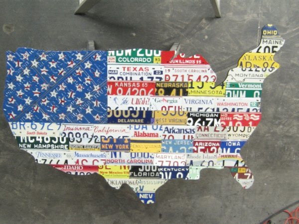 50 State Map/Flag