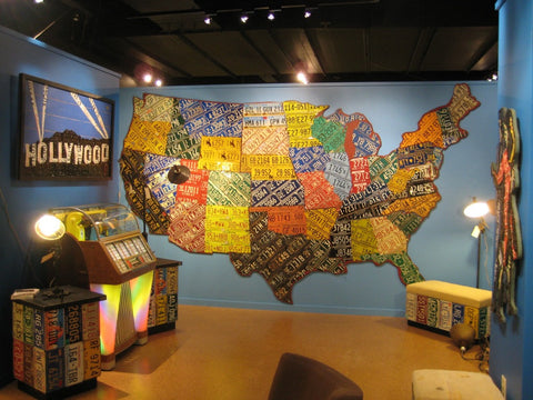 1 USA License Plate Maps Aaron Foster Designs