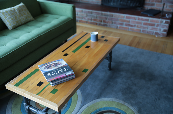 Recycled Gym Floor Coffee Tables