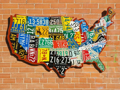 1. USA License Plate Maps – Aaron Foster Designs