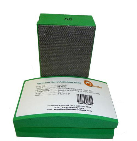 Diamond Hand Polishing Pad 50 Grit