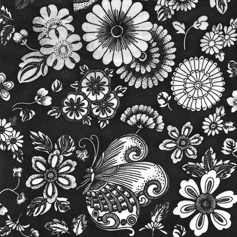 Butterflies & Flowers (BLACK)