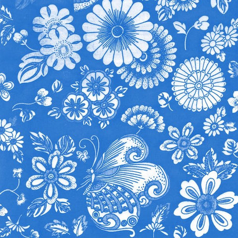 Butterflies & Flowers (BLUE)