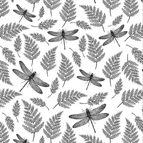 Dragonflies & Ferns (BLACK)