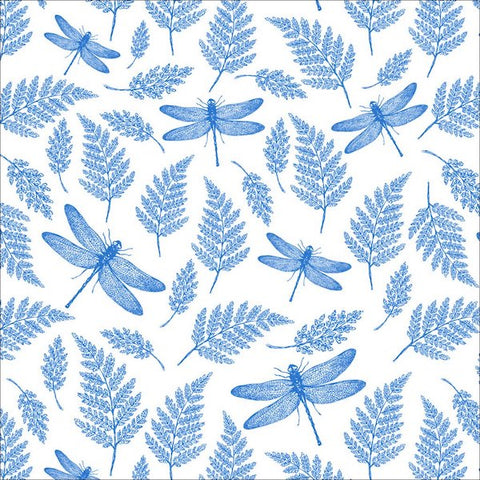 Dragonflies & Ferns (BLUE)