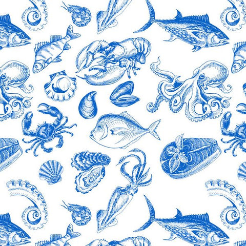 Crabs and Sea Creatures (BLUE)