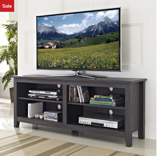 Charcoal Sunbury TV Stand for TVs up to 60