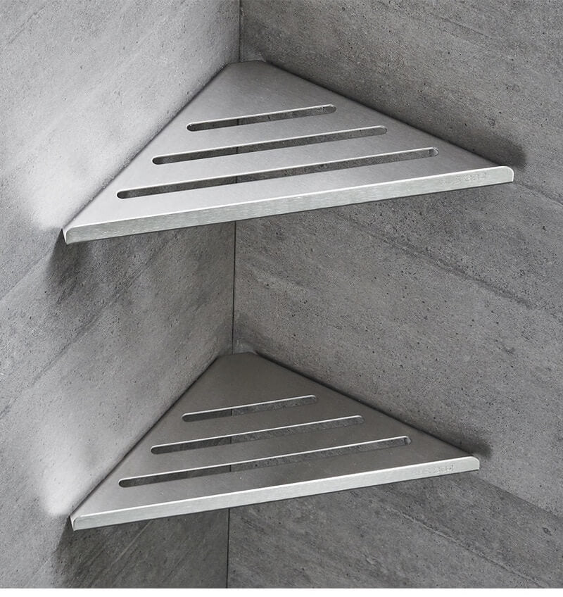 304 stainless steel bathroom shelf 2 layers corner