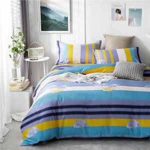 PC 100% Polyester Plaid Striped Style Colorful Printed Duvet