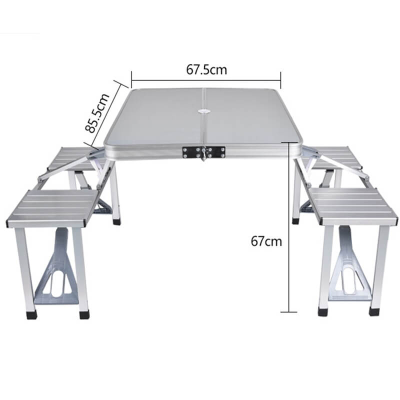 Outdoor Folding Table Chair Camping Aluminium