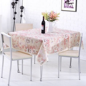 Rural Style Print Decorative Tablecloth Cotton