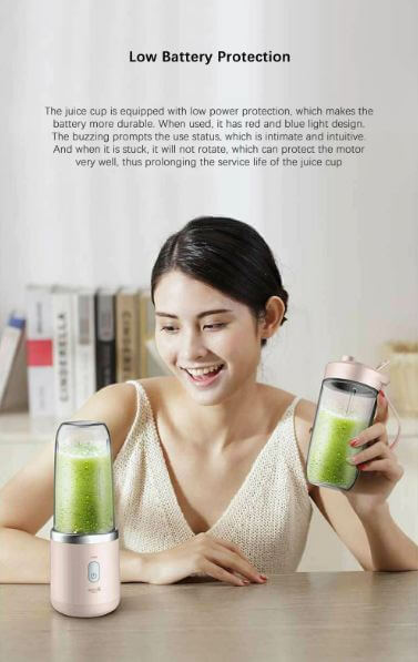 Original Deerma Portable Electric Juicer 400ML