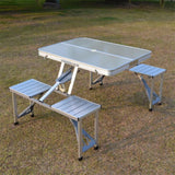 Outdoor Folding Table Chair Camping Aluminium Alloy Picnic Table
