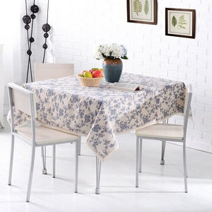 Rural Style Print Decorative Tablecloth Cotton and Linen