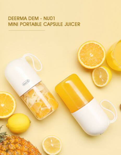Deerma 300ml Portable Electric Juicer Mini USB Rechargable