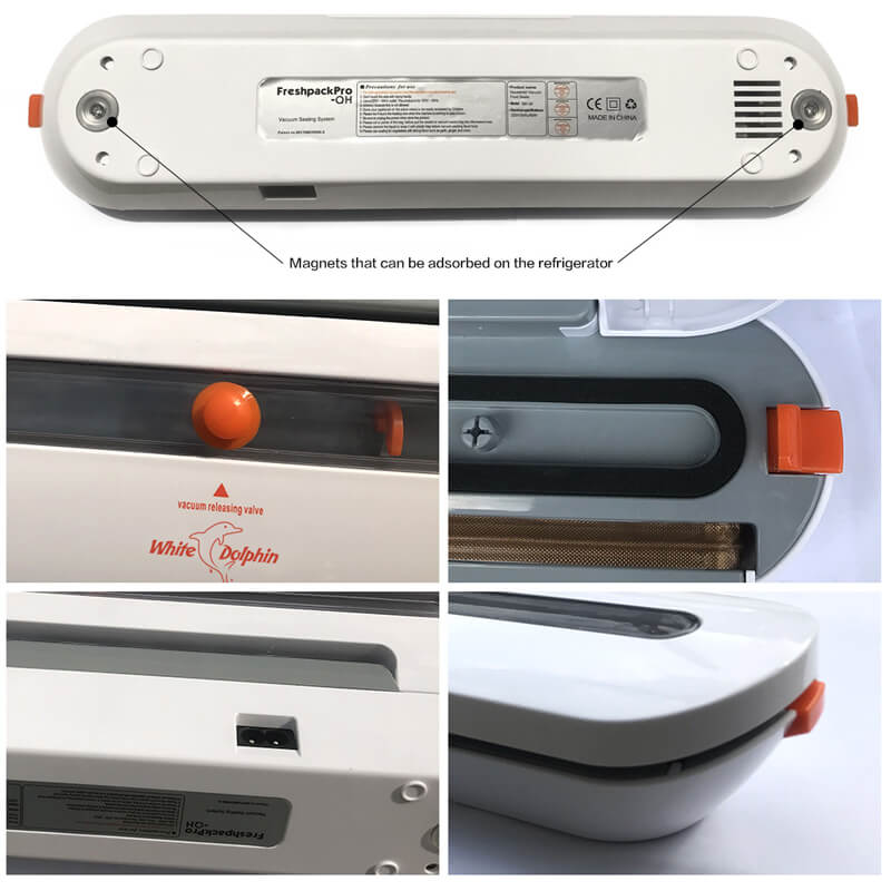 Household Food Vacuum Sealer Packaging Machine With 10pcs