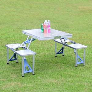 Outdoor Folding Table Chair Camping Aluminium Alloy Picnic Table Waterproof