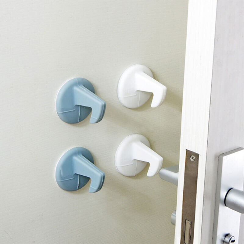 Door Handle Crash Pad Set Silicone Creative with Hook Wall Cushion Pad Home Door