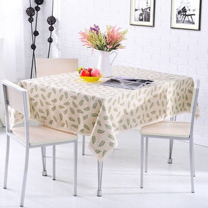 Rural Style Print Decorative Tablecloth Cotton and Linen Lace Tablecloth