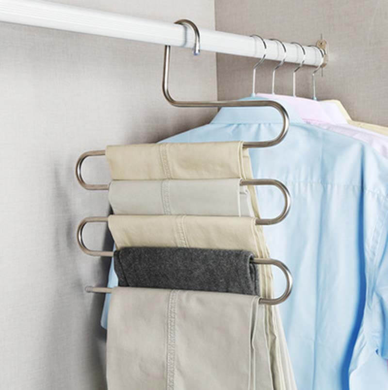 5 layers S Shape MultiFunctional Clothes Hangers Pants