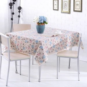 Rural Style Print Decorative Tablecloth Cotton and Linen Lace Tablecloth Dining