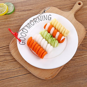 UPORS Vegetables Spiral Knife Carving Tool Potato Carrot