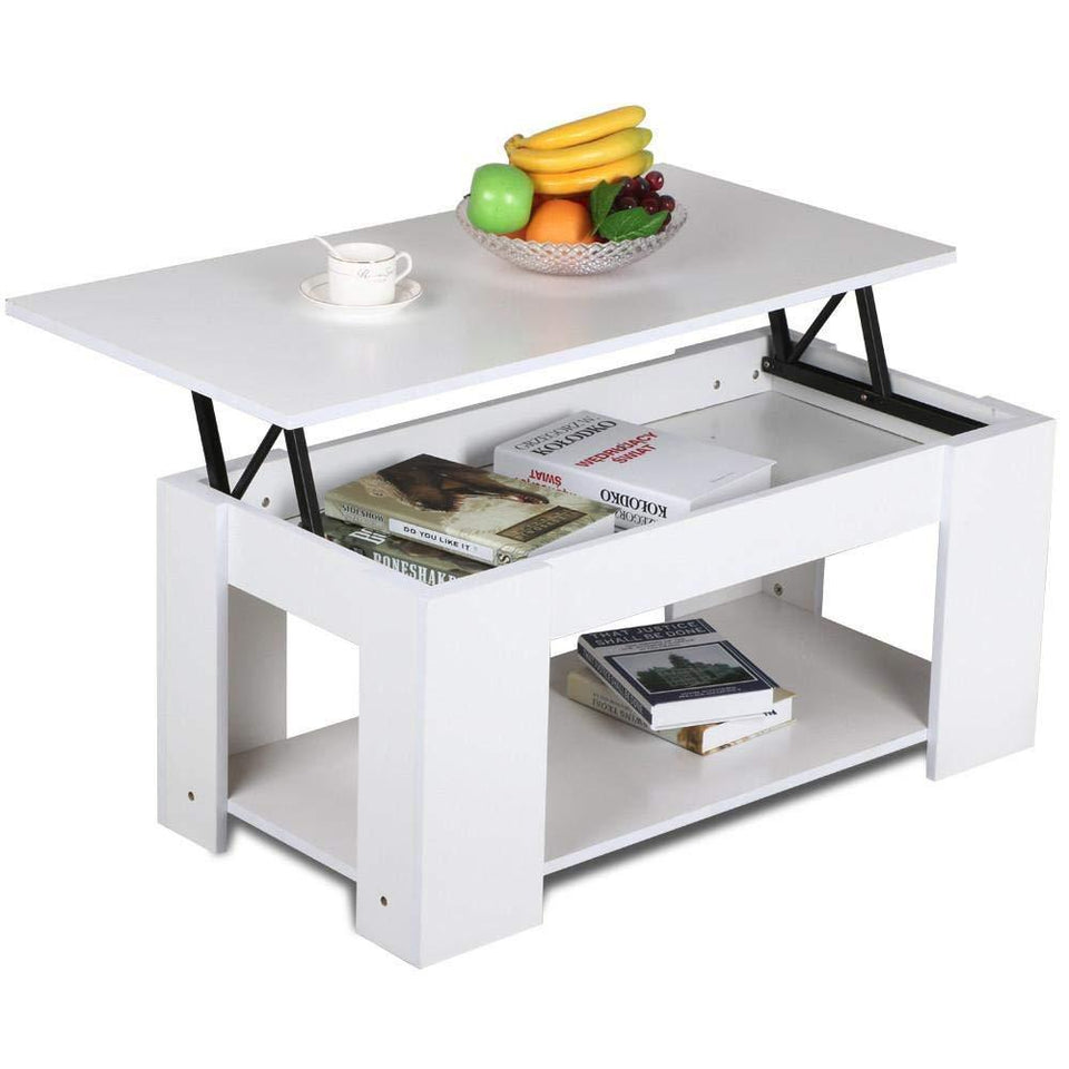 Lift up Coffee Storage Compartment Table - AsSeenOnTheShow