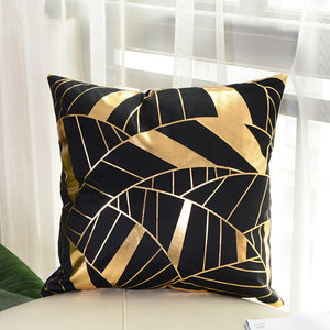 cover gold printed pillow  decorative