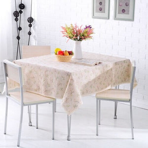 Rural Style Print Decorative Tablecloth Cotton and Linen Lace Tablecloth Dining Table