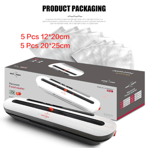 Household Food Vacuum Sealer Packaging Machine With 10pcs Bags Free 220V 110V