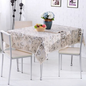 Rural Style Print Decorative Tablecloth Cotton and Linen Lace Tablecloth Dining Table Cover Home